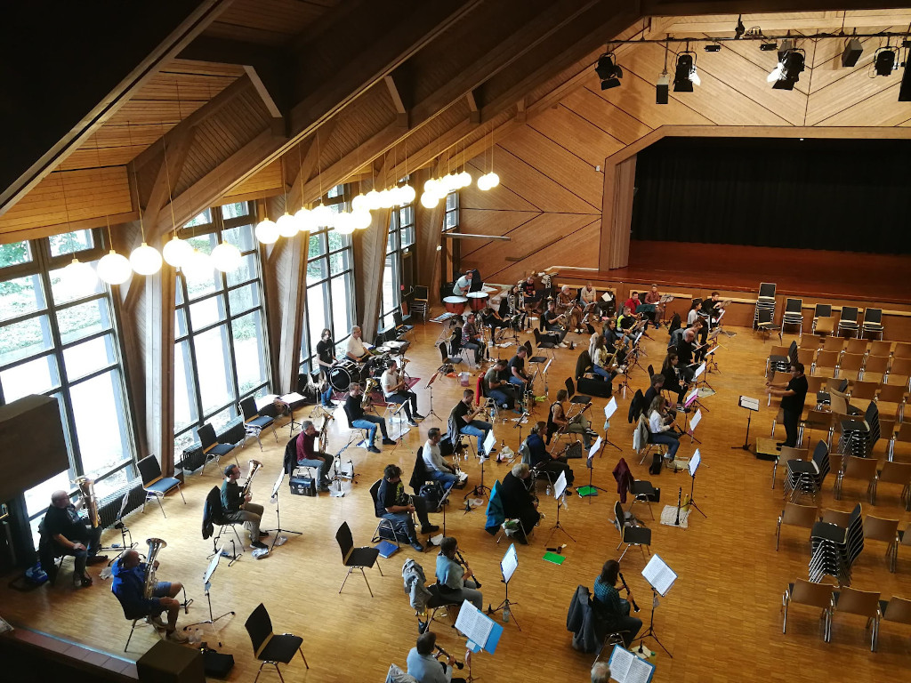 Probe in der Stadthalle